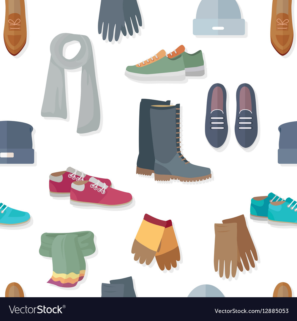 Seamless Pattern with Women Accessories and Shoes
