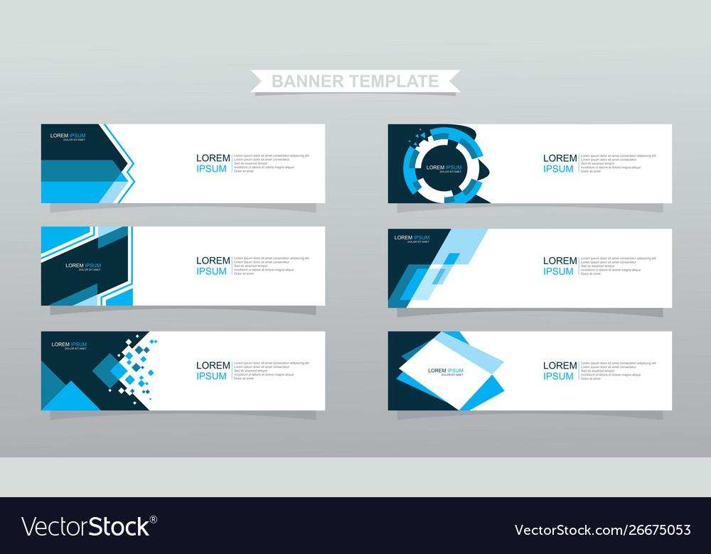 Set abstract banners modern design