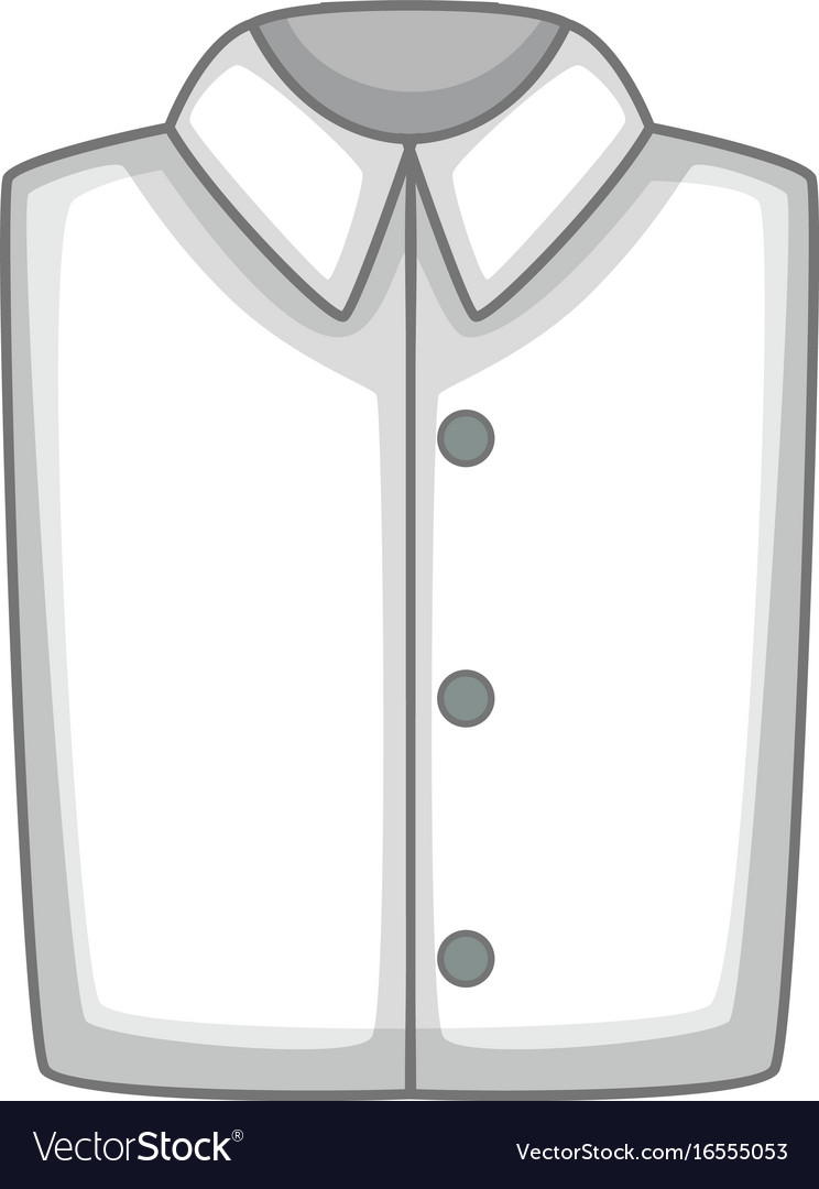 White folded shirt icon cartoon style vector image