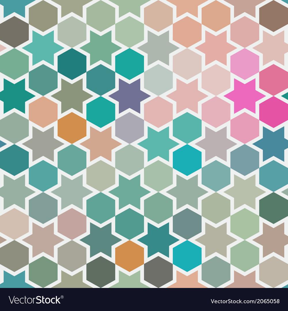 Background of repeating geometric stars Spectrum