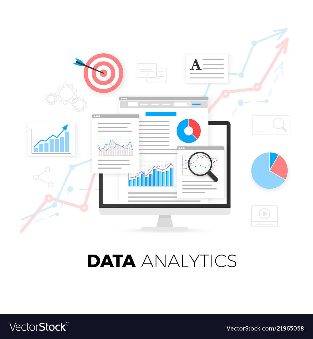 Data analytics information and web development