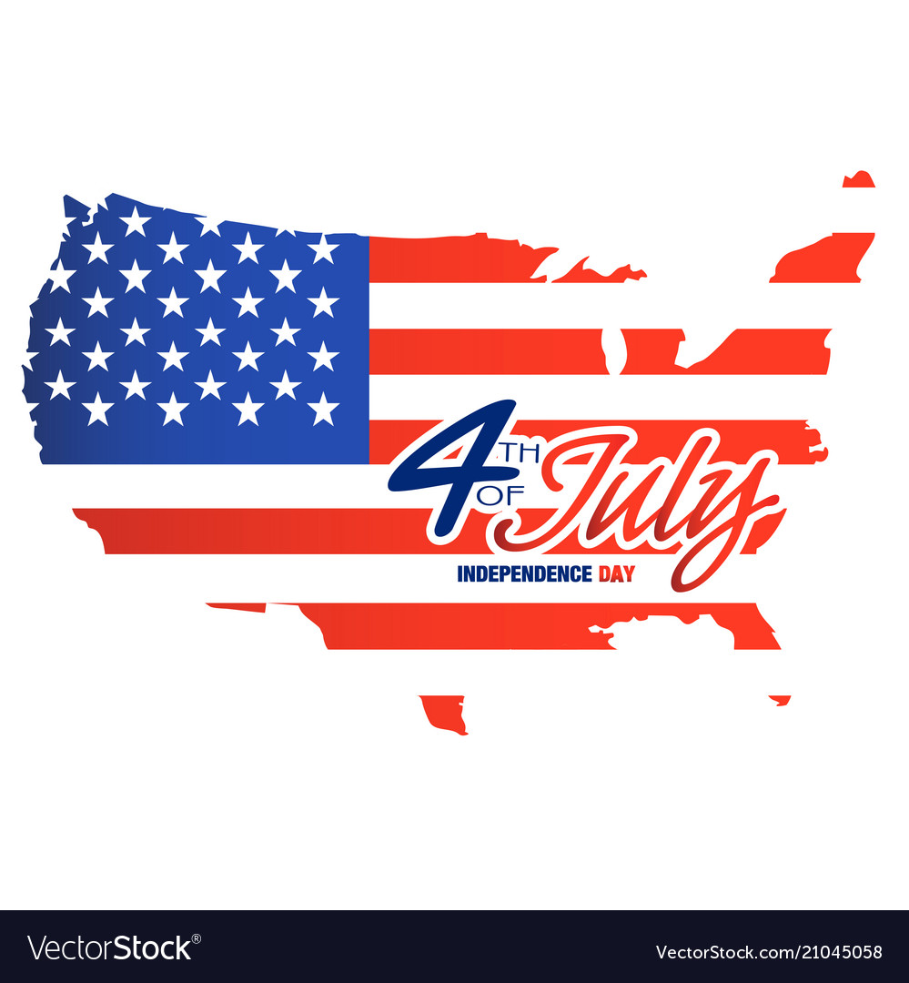 Fourth of july independence day paint united state vector image