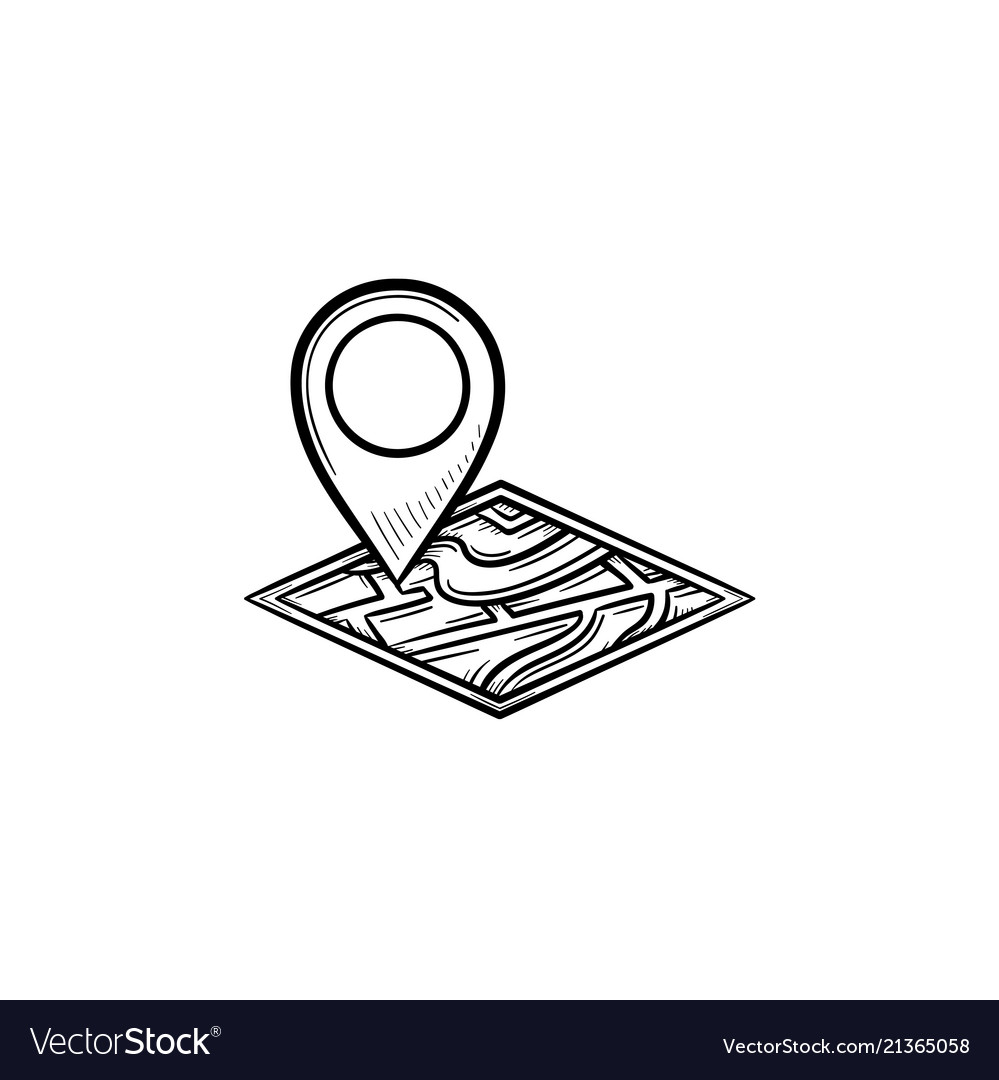 House location hand drawn outline doodle icon