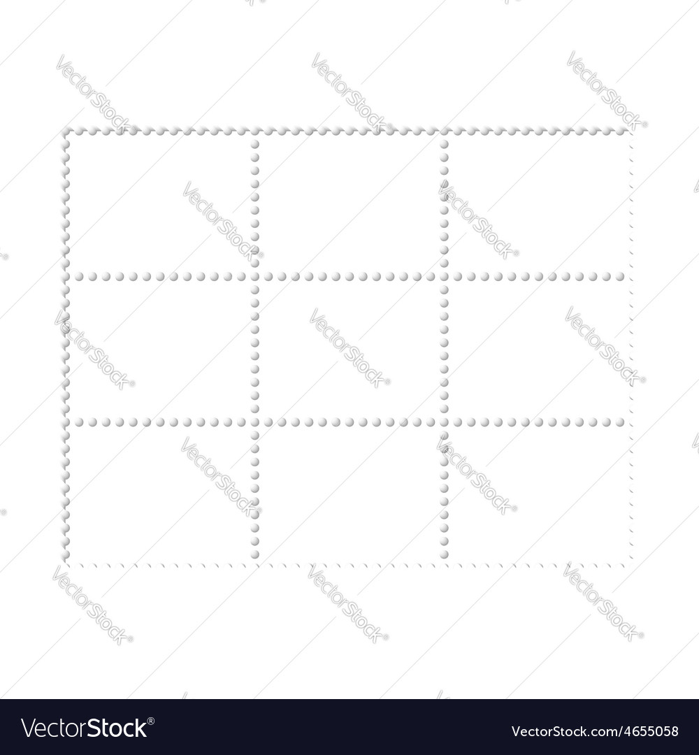 Mockup blank design six stamps block philately