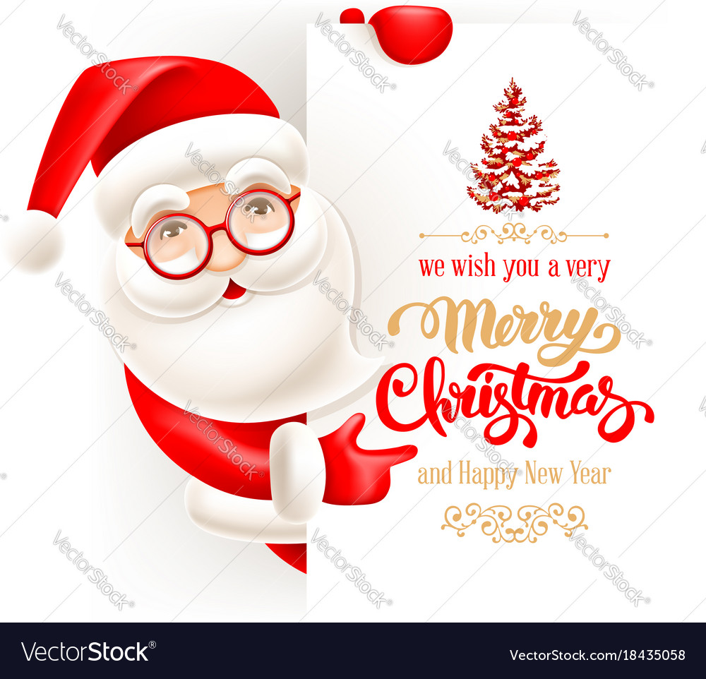 Santa claus and christmas greeting card