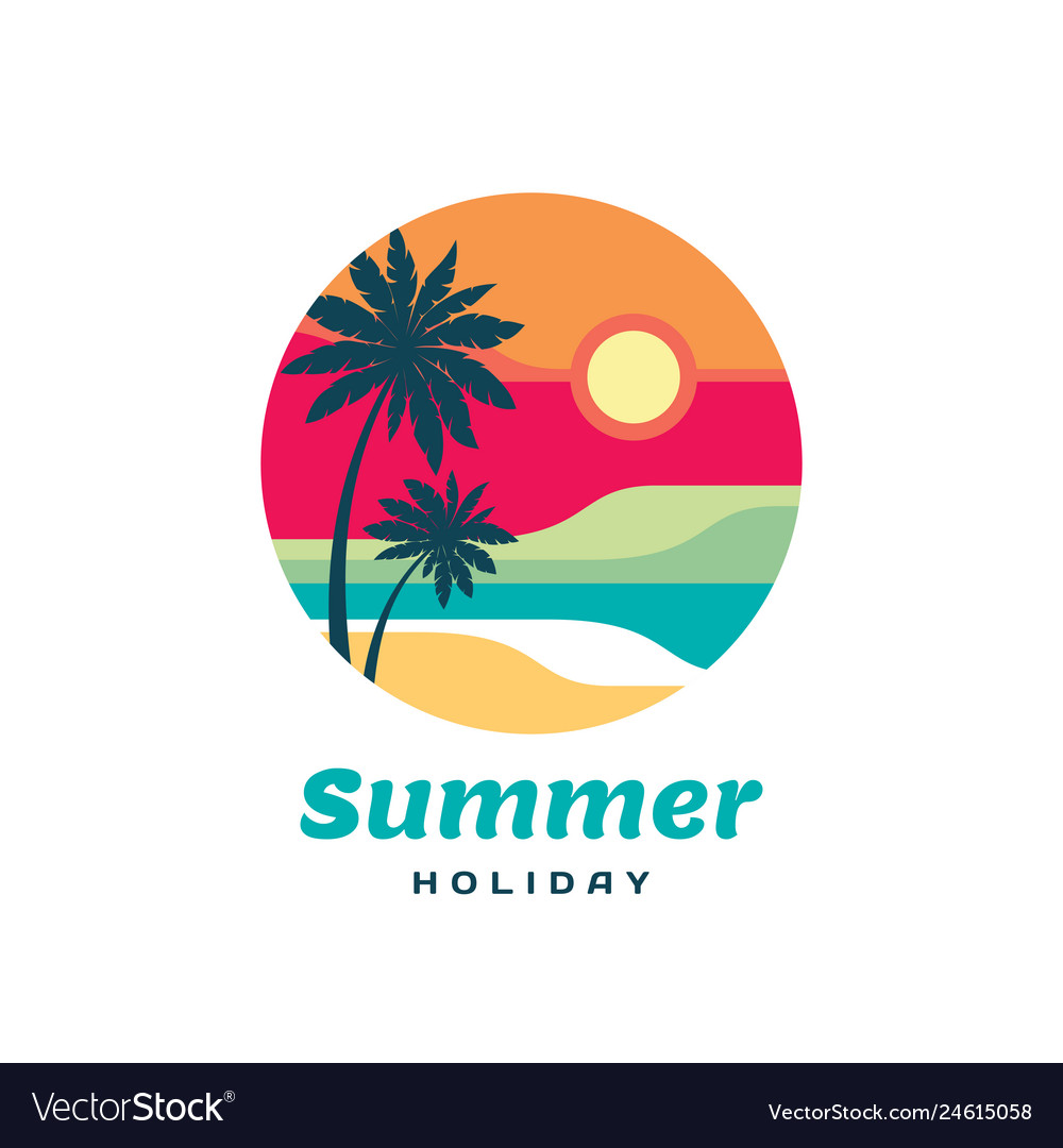 Summer holiday concept business logo