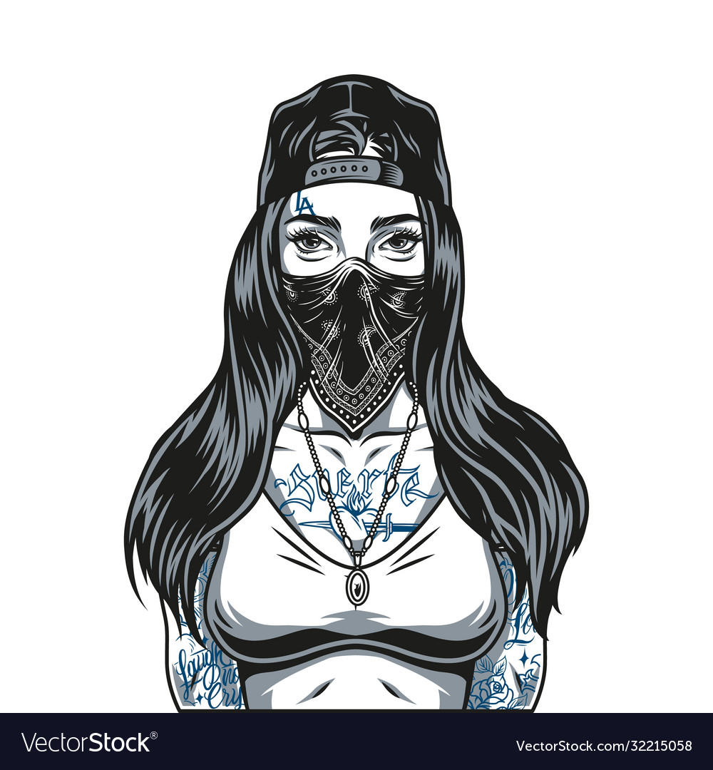 Woman with tattoos on her body