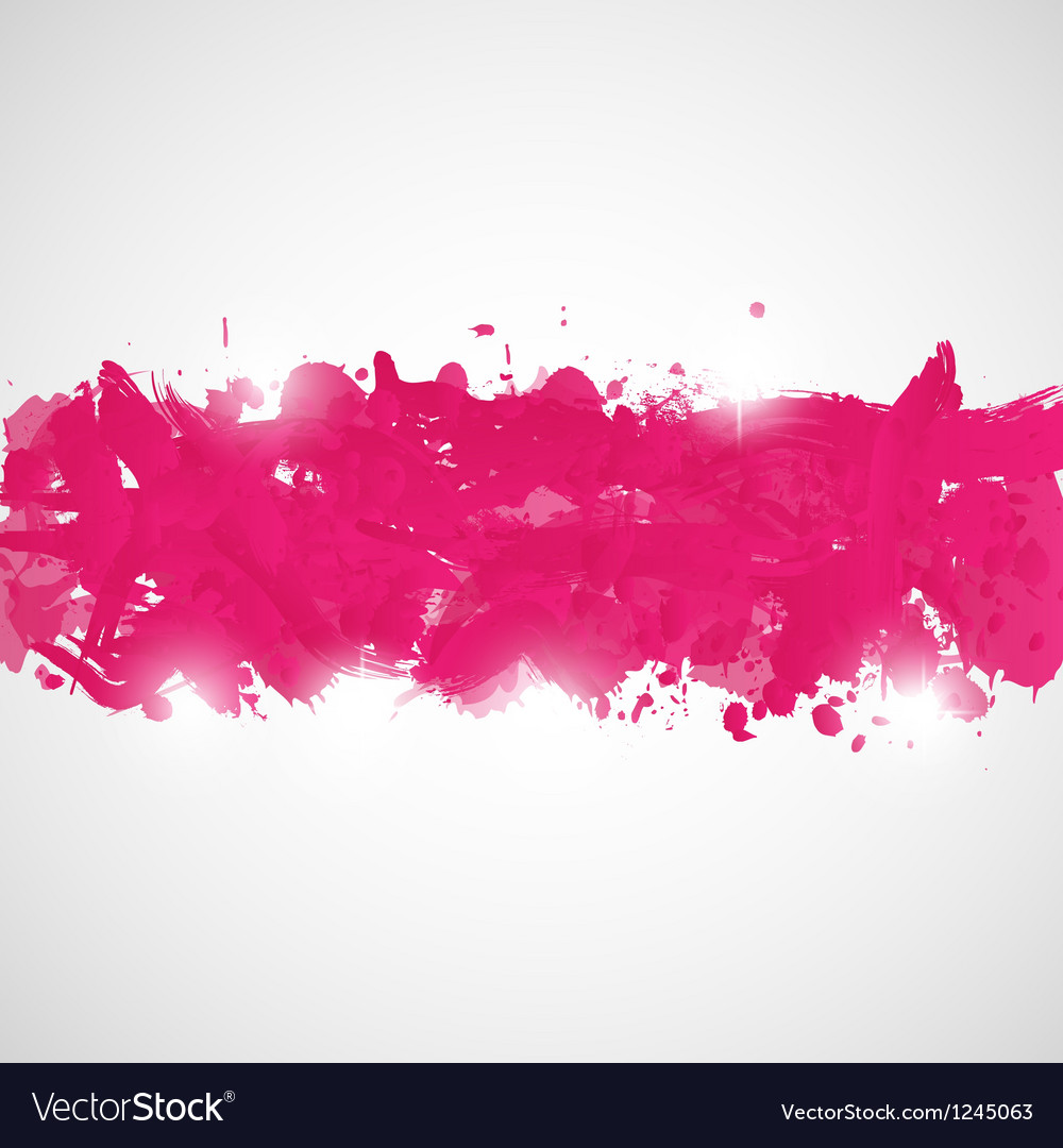 Abstract background with pink paint splashes