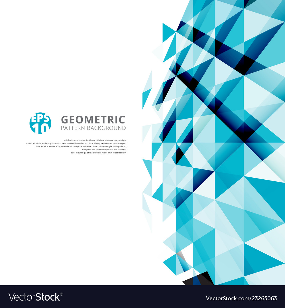 Abstract blue geometric triangles pattern