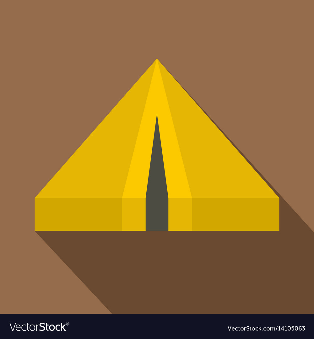 Camping tent icon flat style