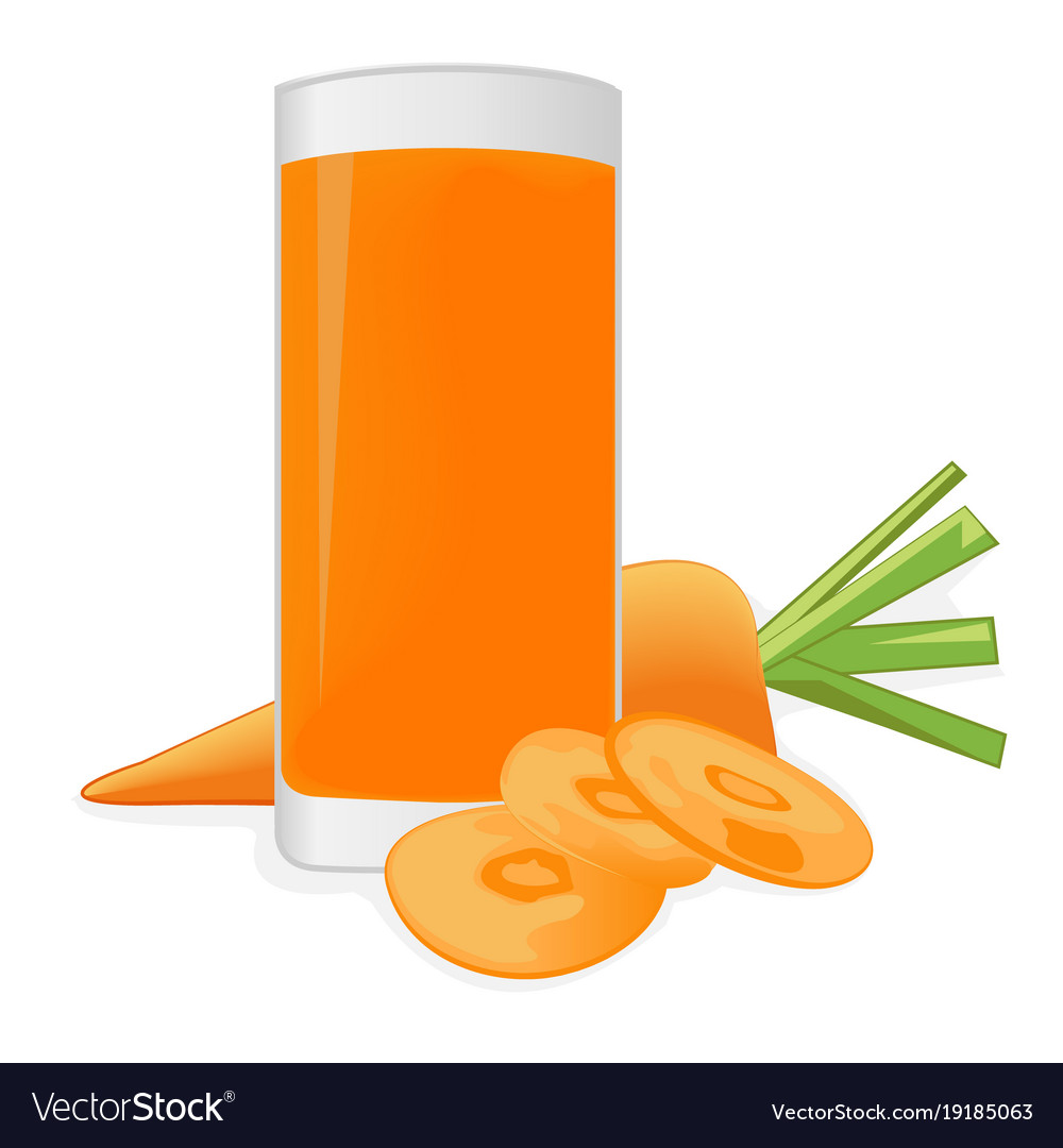 Carrot Juice And A Carrot Royalty Free Vector Image