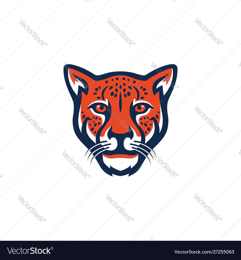 cheetah logo royalty free vector image vectorstock vectorstock