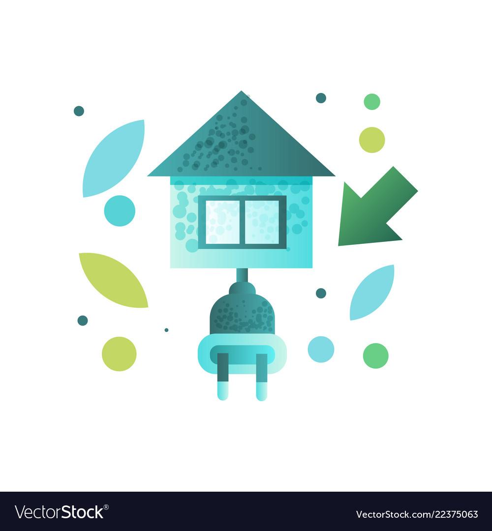 Eco house contemporary energy efficient building