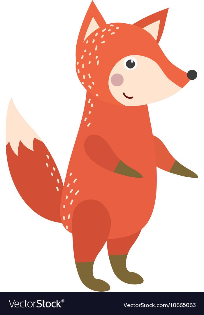Fox character vector image