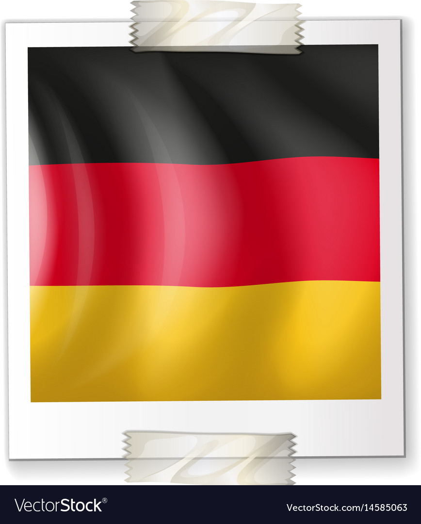Germany flag on paper