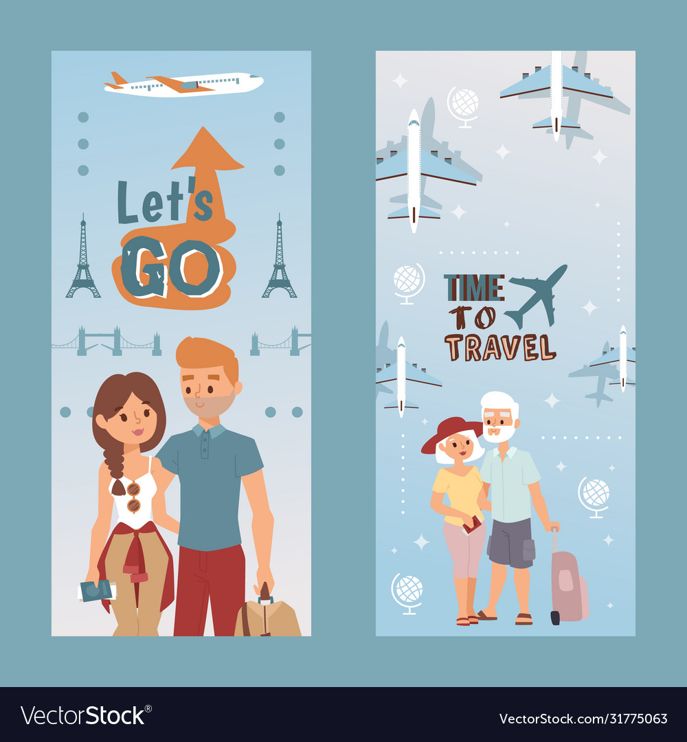 People vacation set lets do and time to travel