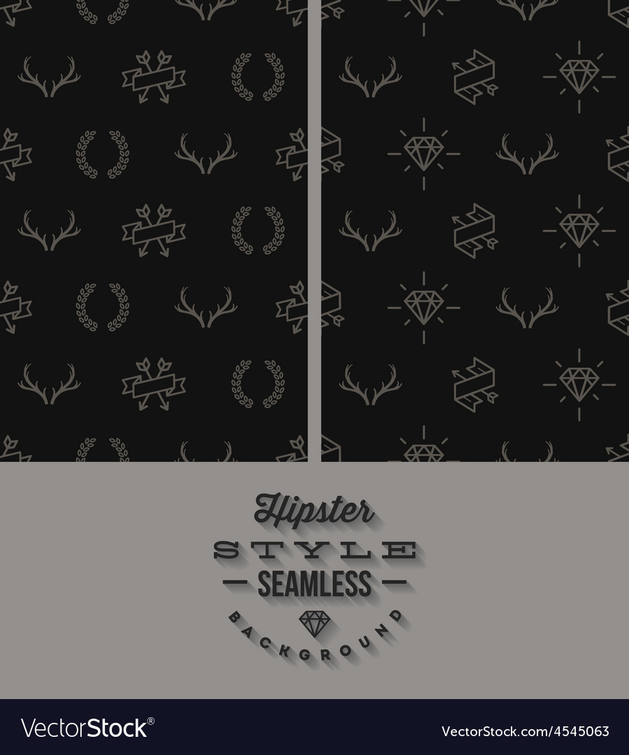 Two black hipster style seamless background