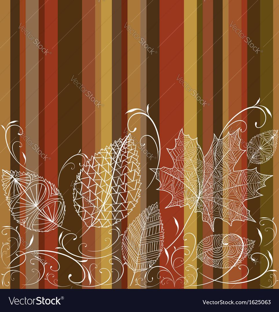 Vintage autumn leaves seamless pattern background
