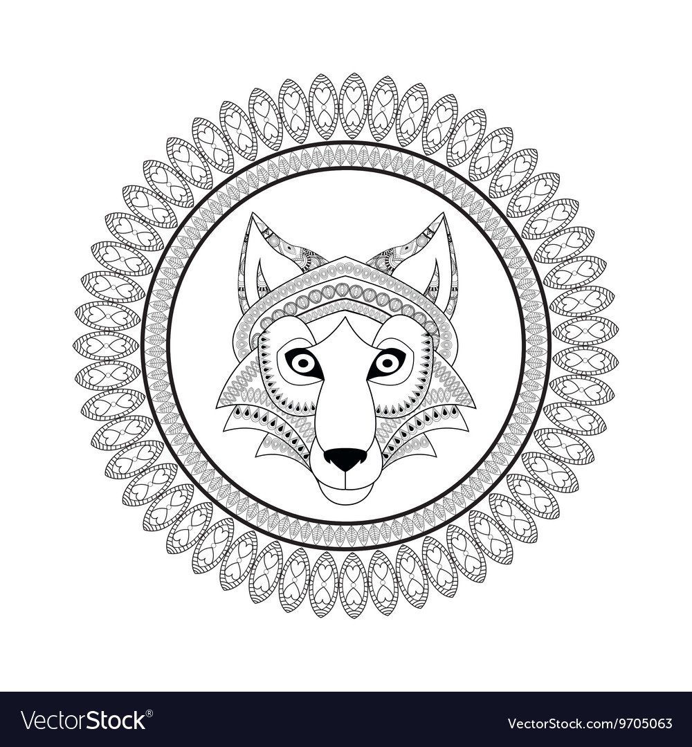 Wolf icon Animal and Ornamental predator design