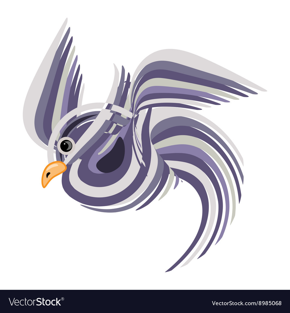 Abstract bird isolated vector image