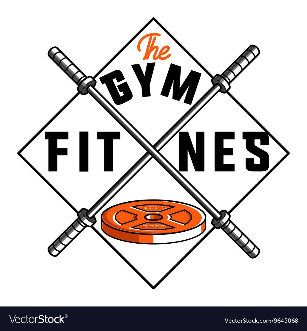 Color vintage fitness emblem