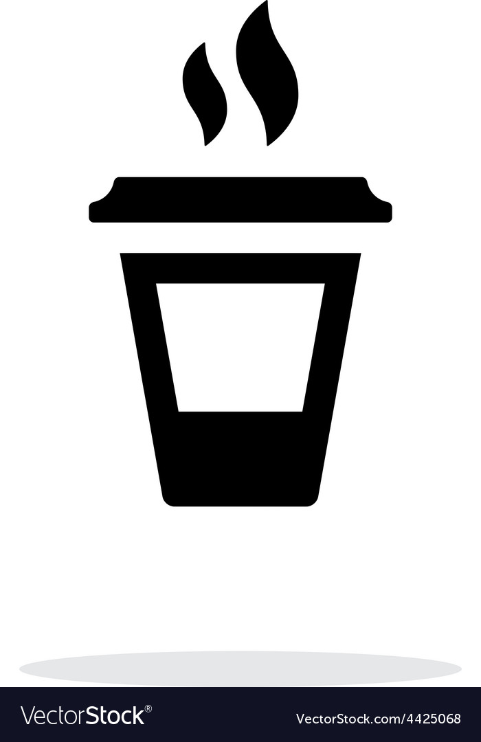 Ending coffee cup icon on white background vector image