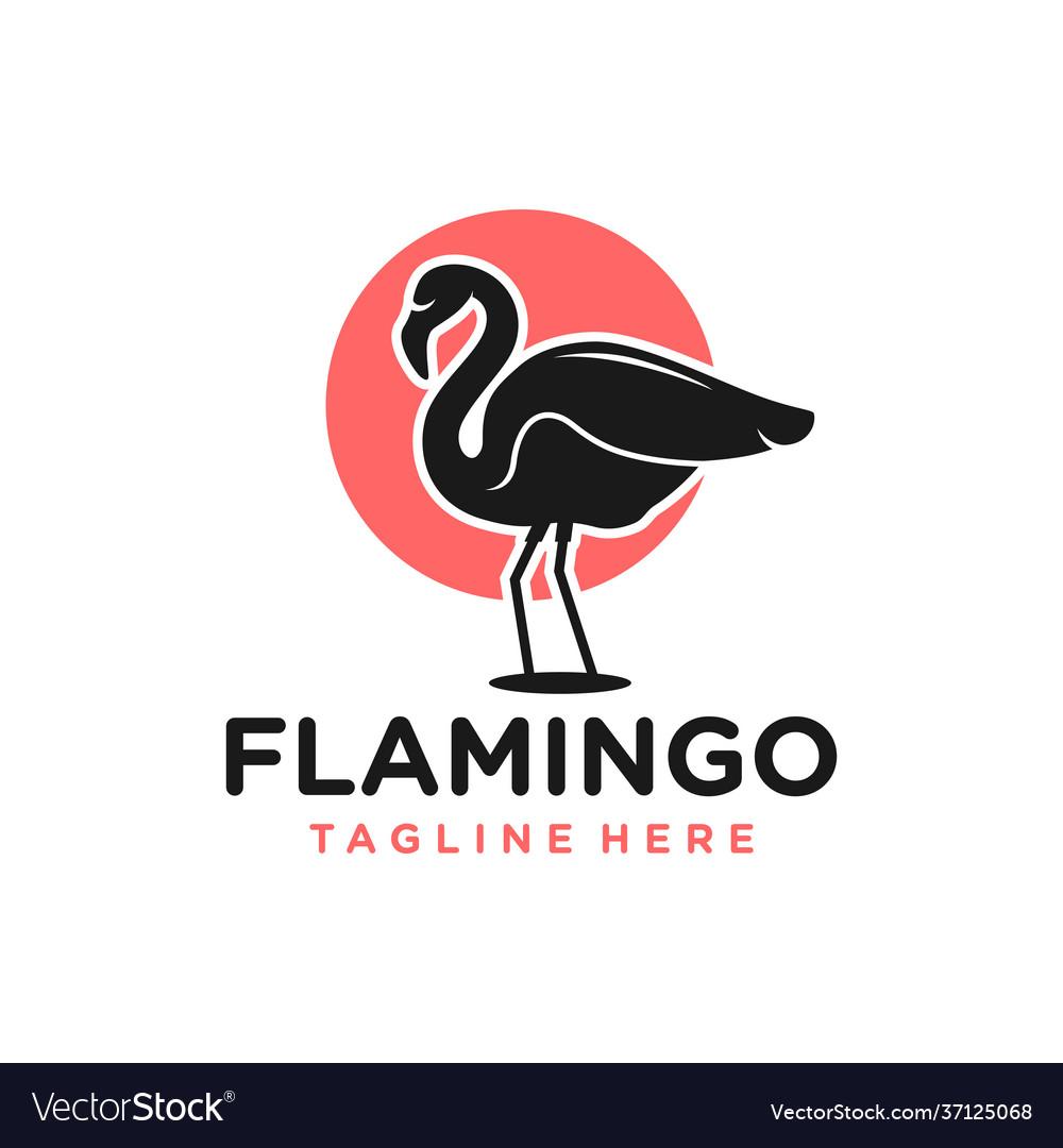 Flamingo bird animal logo