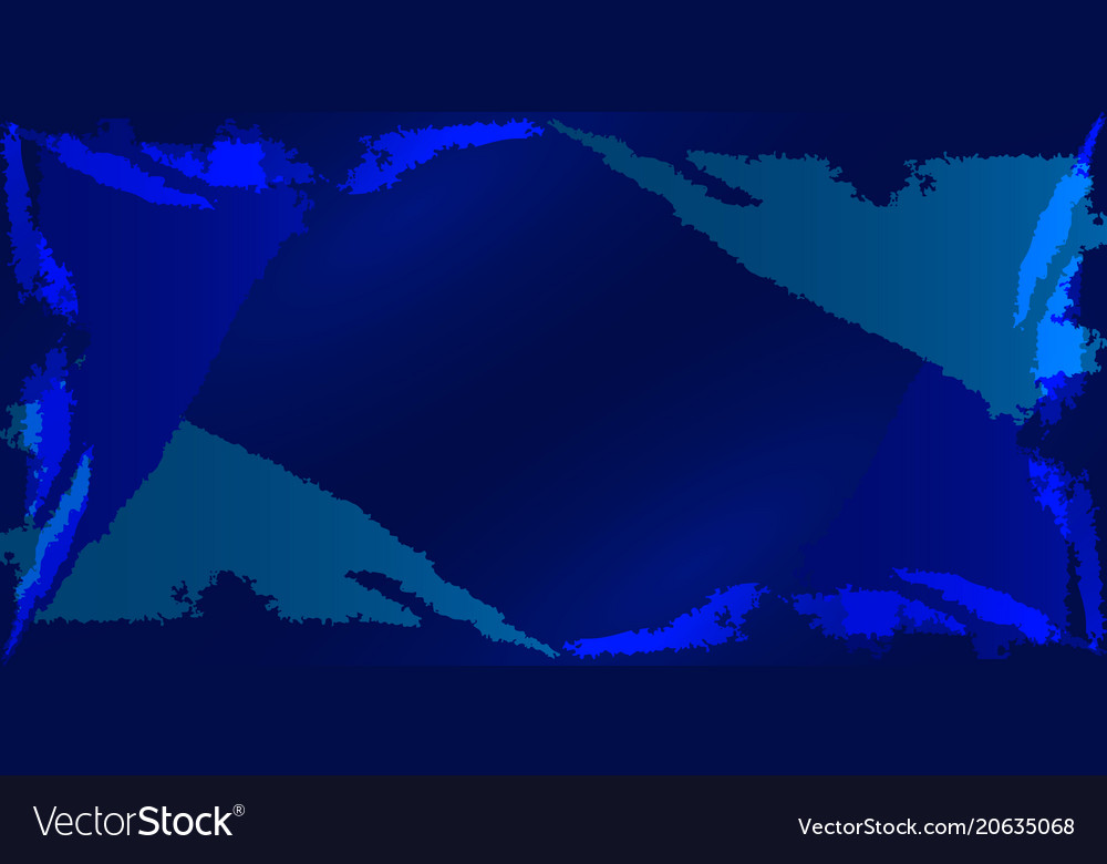 Frame with imitation of the dark ocean vector image