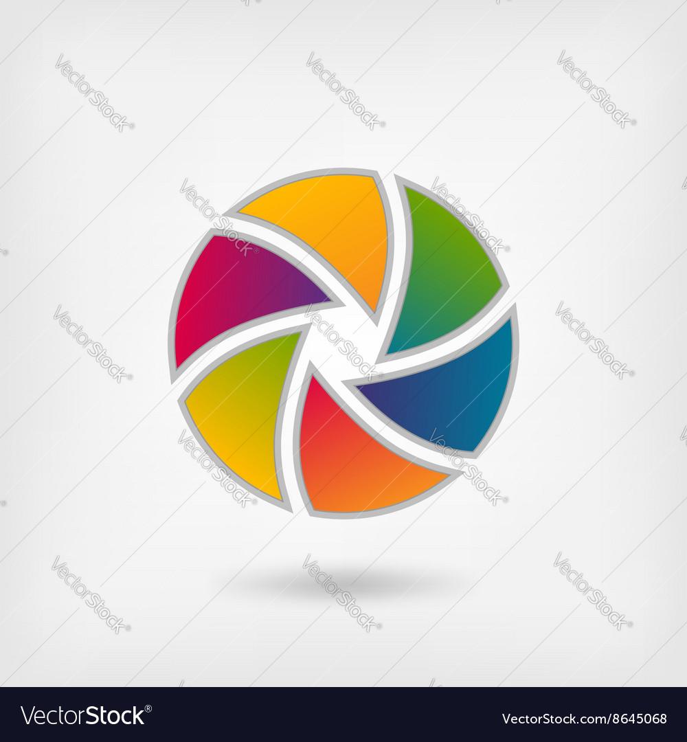 Lens multicolor icon
