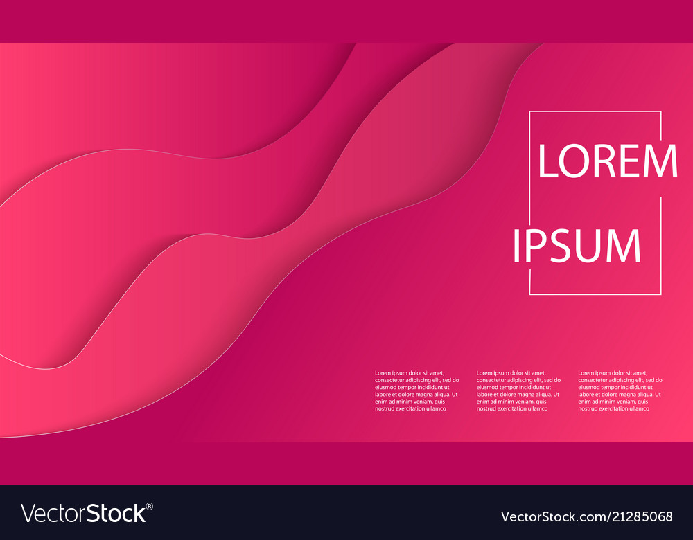 Modern art poster template with red paper
