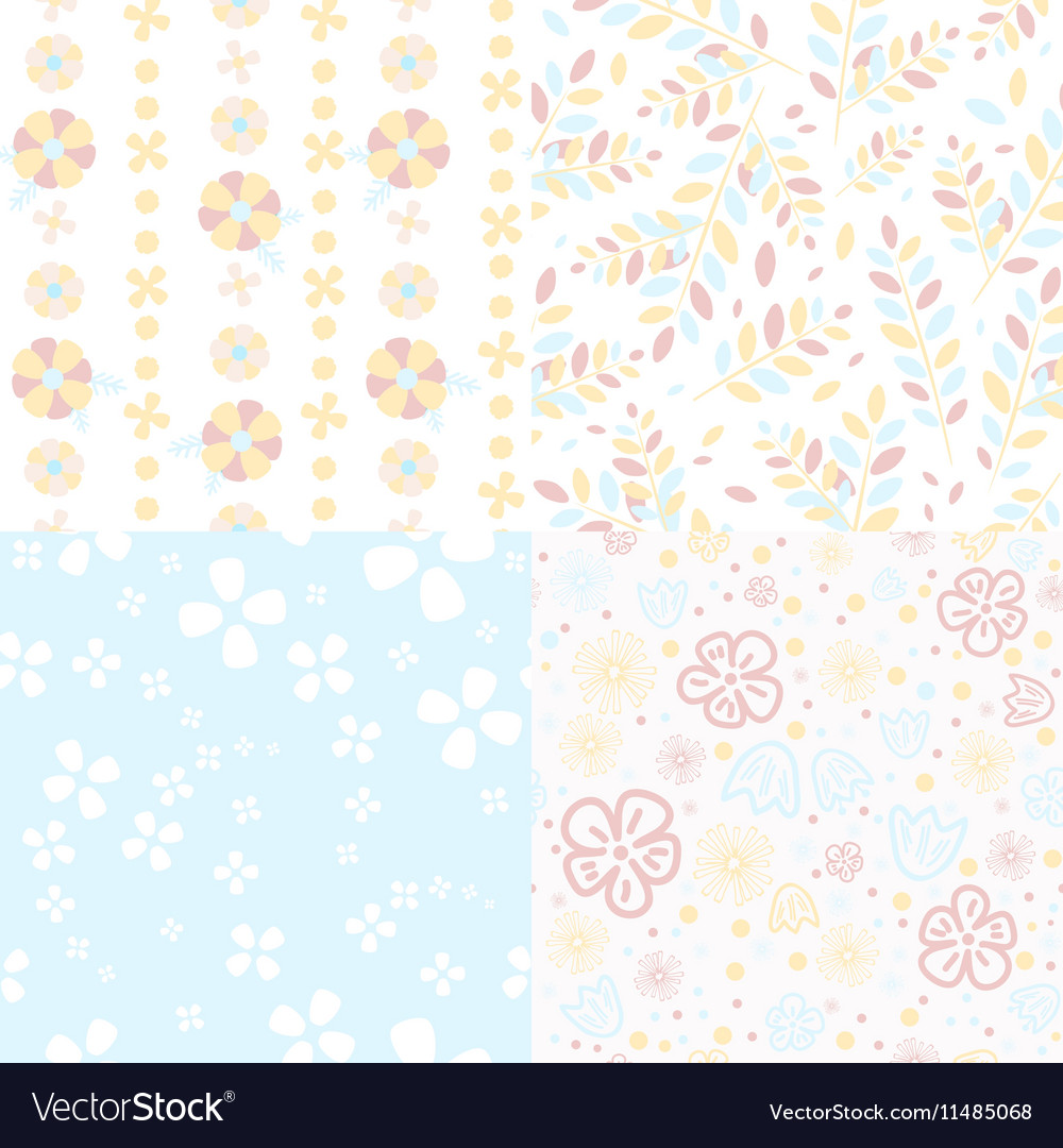 Set of light flower pattern
