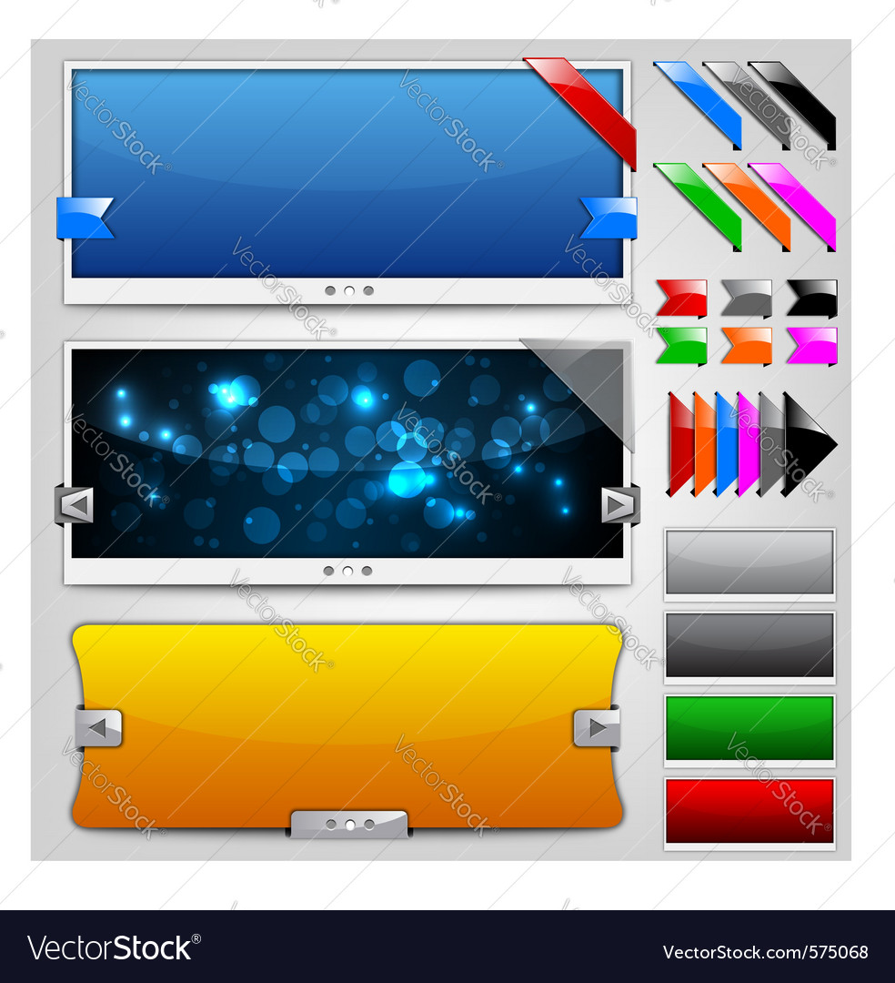Web sliders and ribbons backgrounds