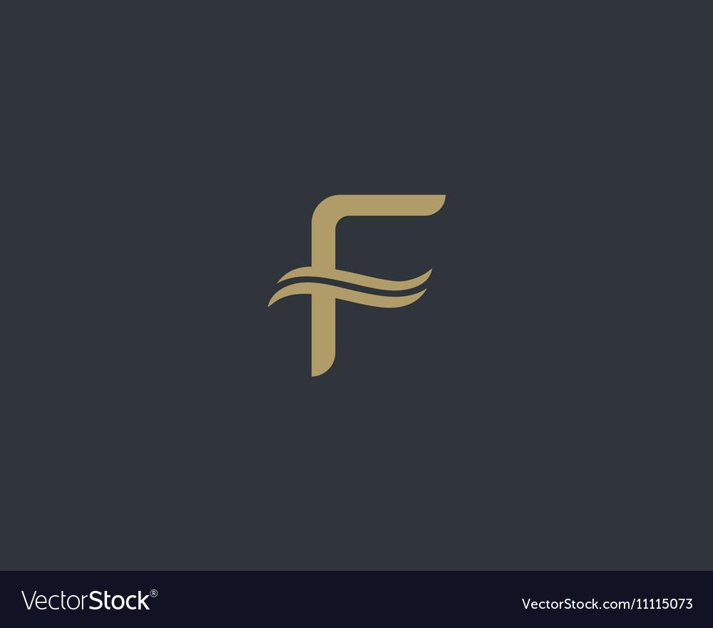 Abstract monogram elegant premium letter F logo