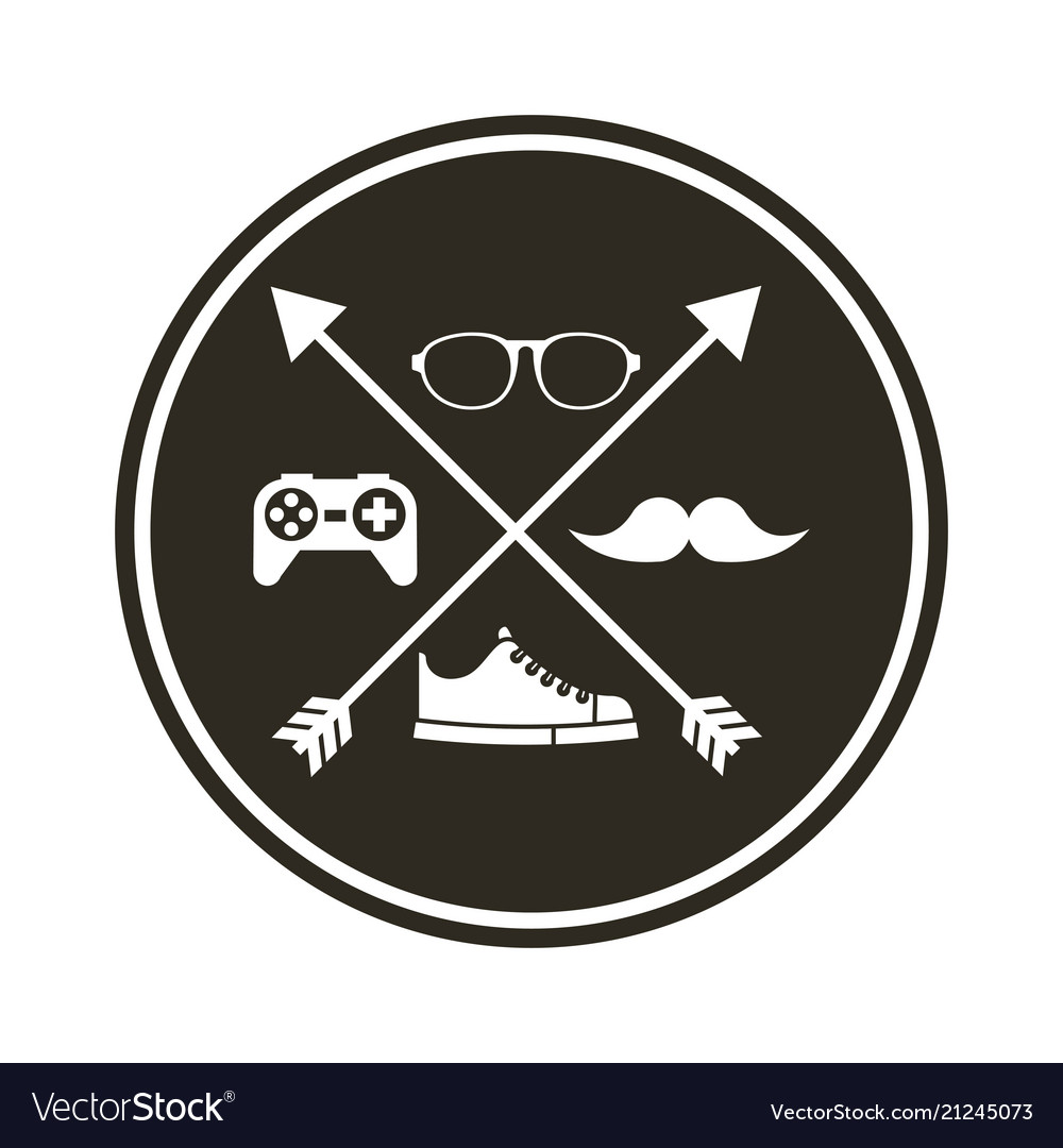 943cb60f880 Frame hipster style isolated icon vector image