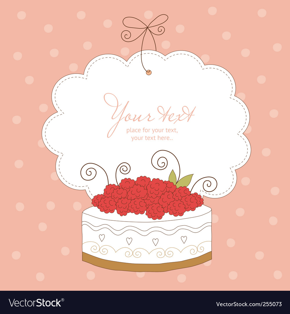 Greeting card with cute cupcak vector image