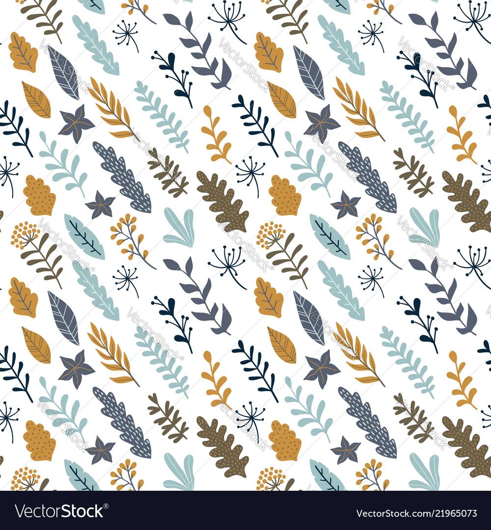 Hand drawn floral seamless pattern modern design