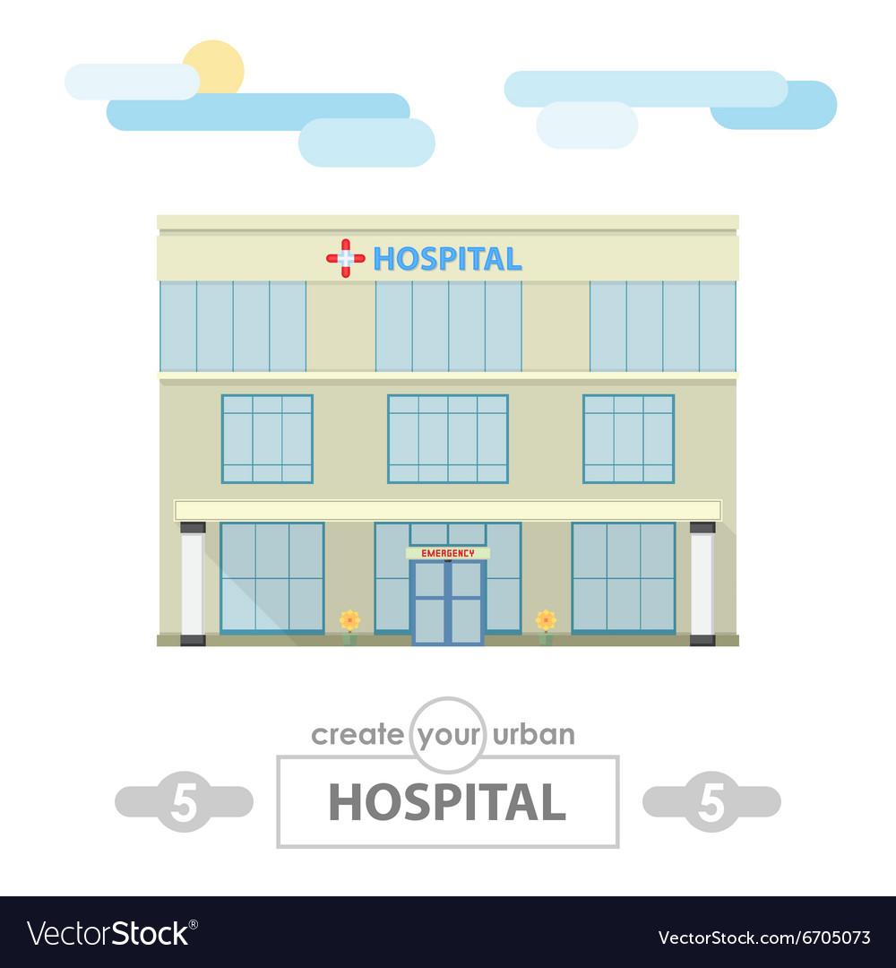 Hospital building set for create city landscape