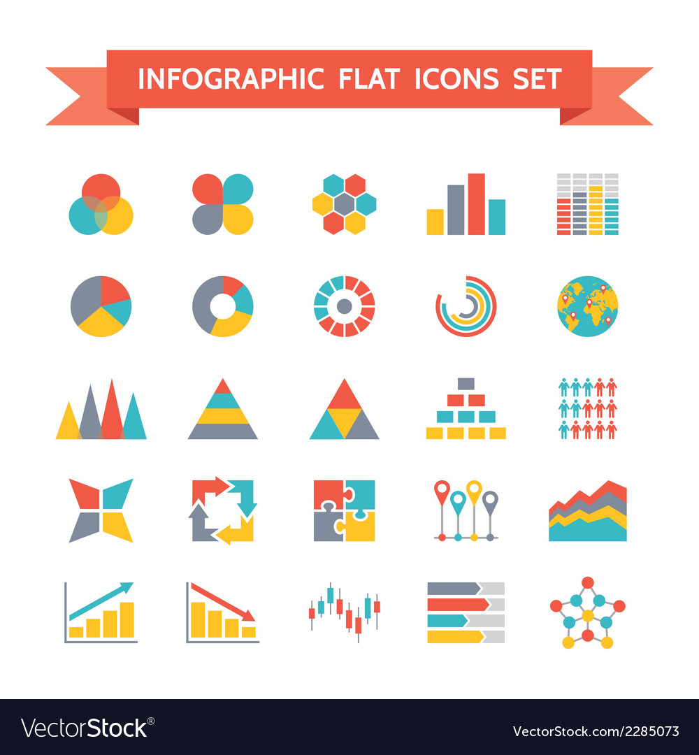 Icons Set of Infographic Concept