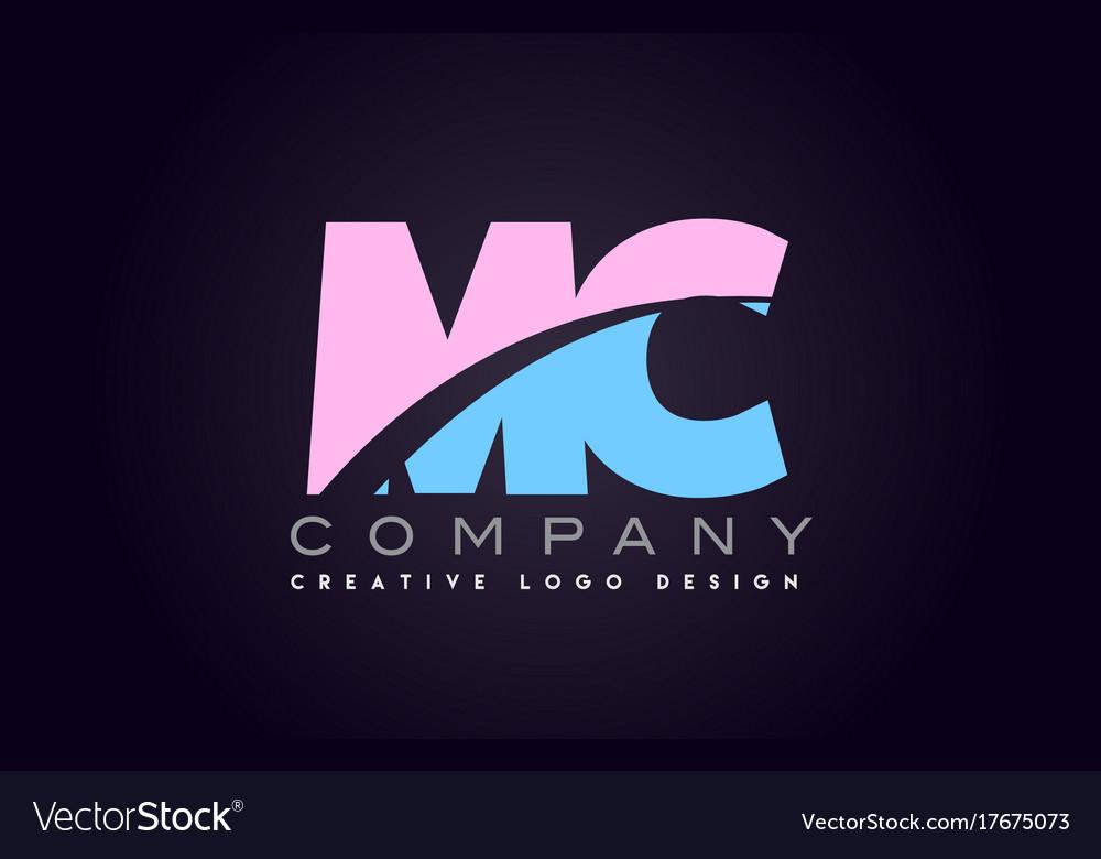 Mc alphabet letter join joined letter logo design