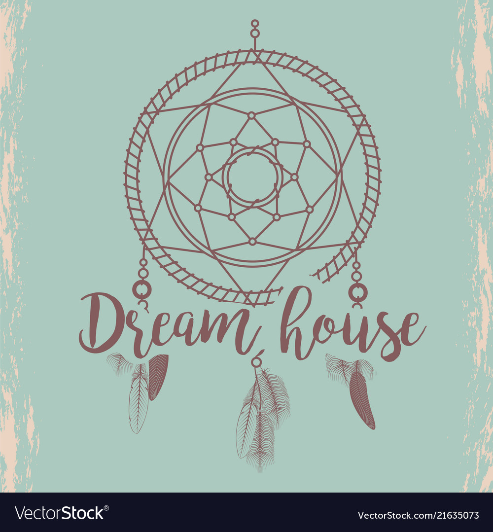 Sketched dream catcher poster