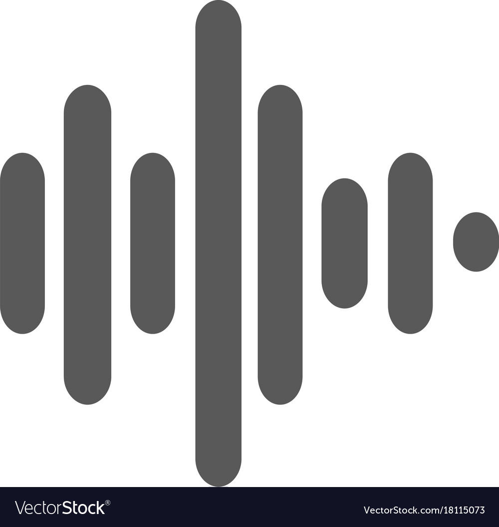 Sound wave icon simple