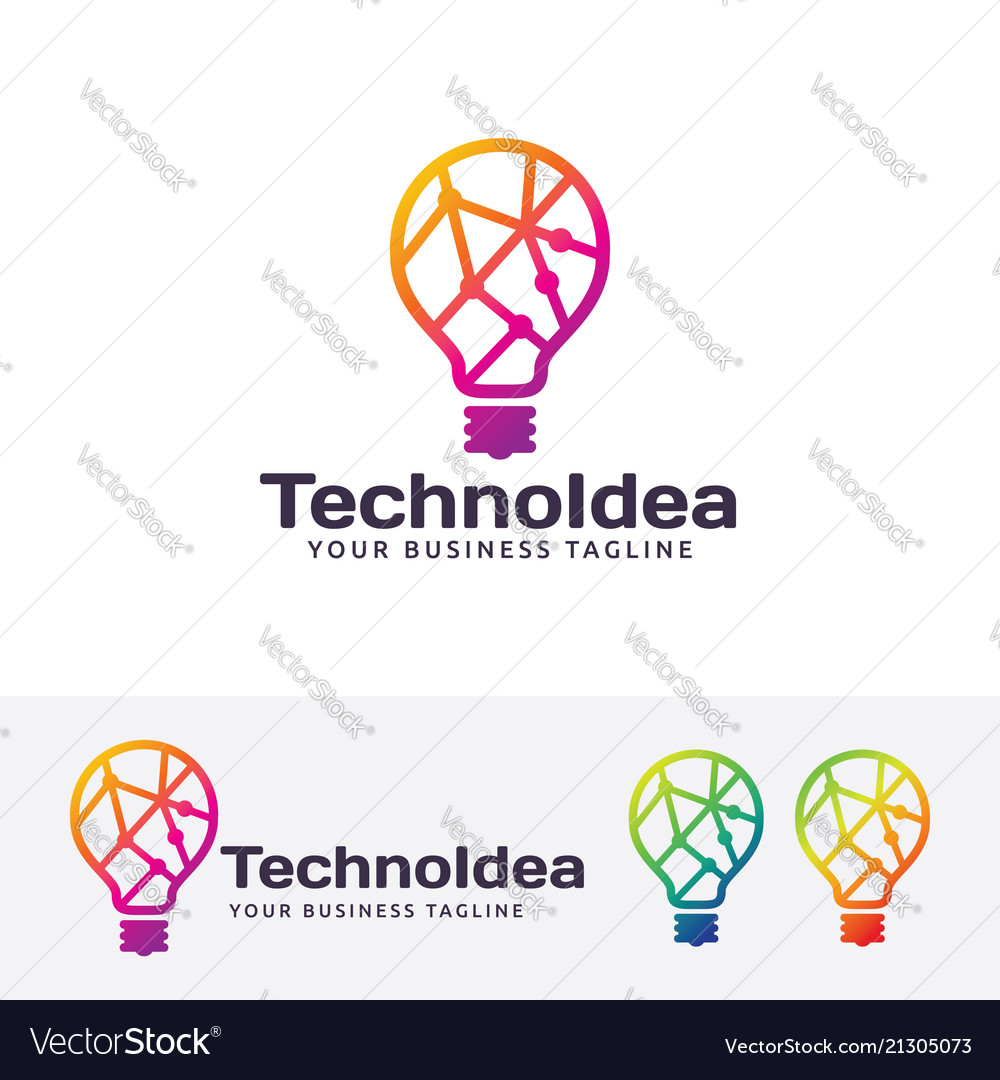 Technology idea logo design