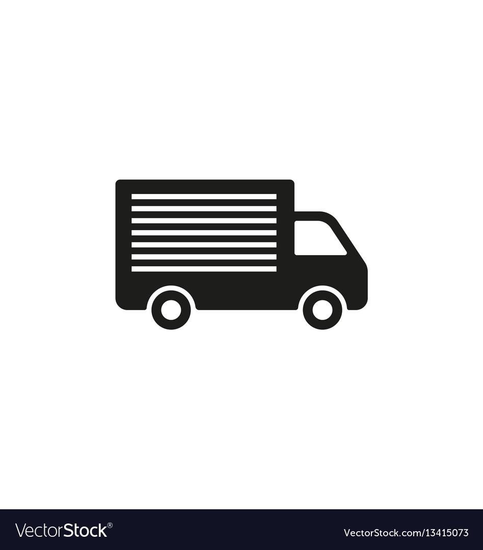 Truck shipping symbol on white background