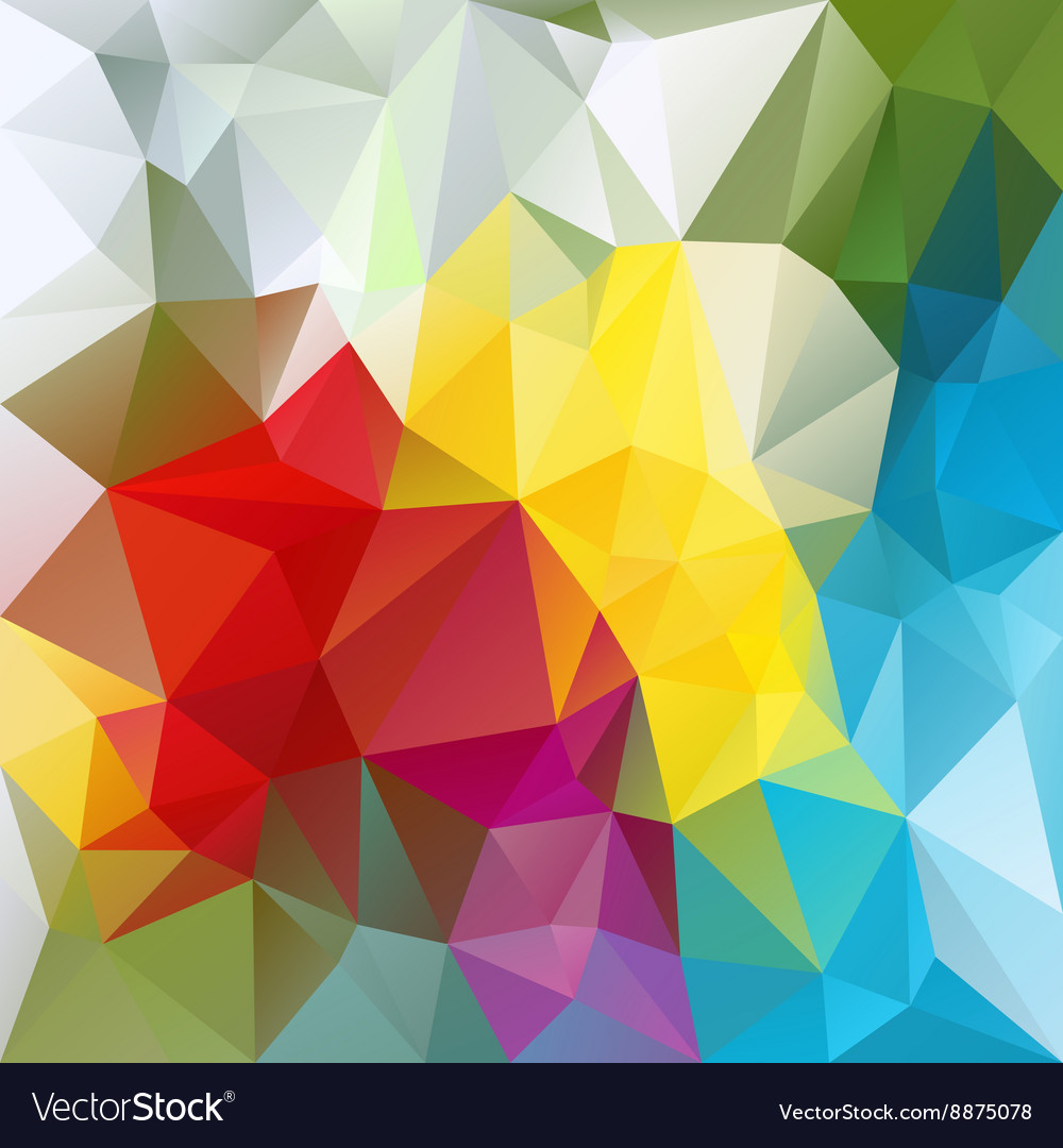 Colorful abstract polygon triangular pattern