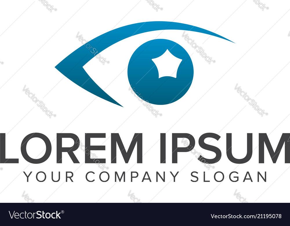 Eye vision logo design concept template