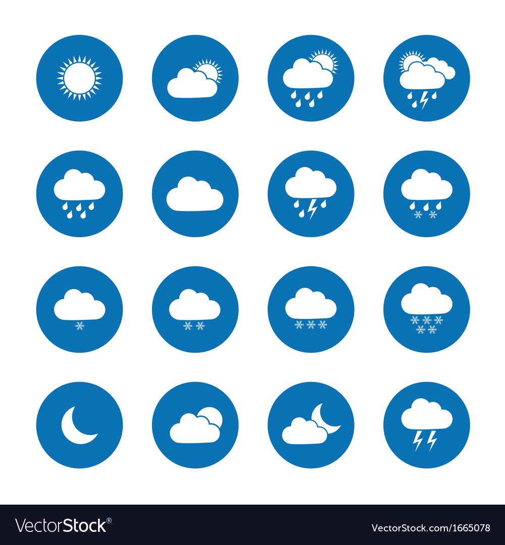 Flat weather icons