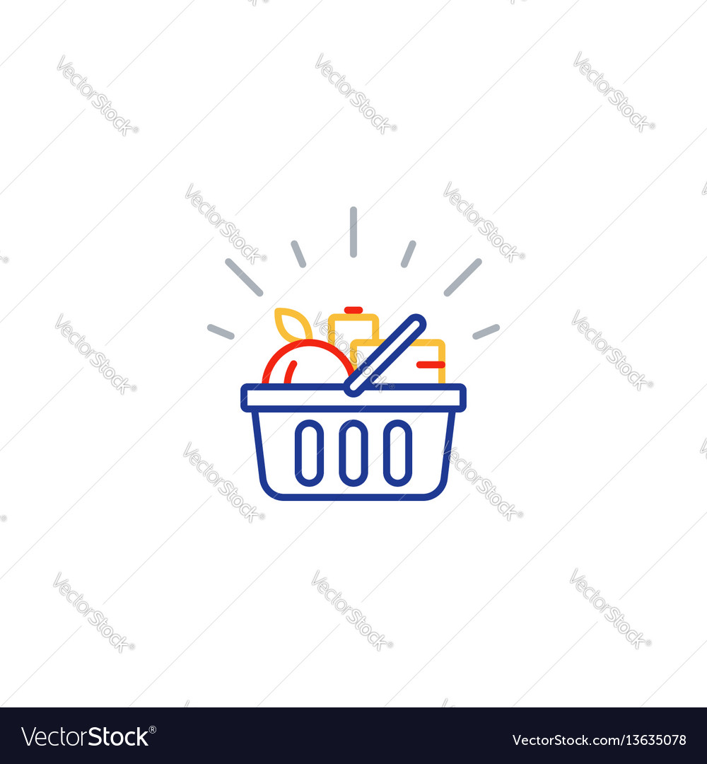 Food basket grocery order shop special offer line