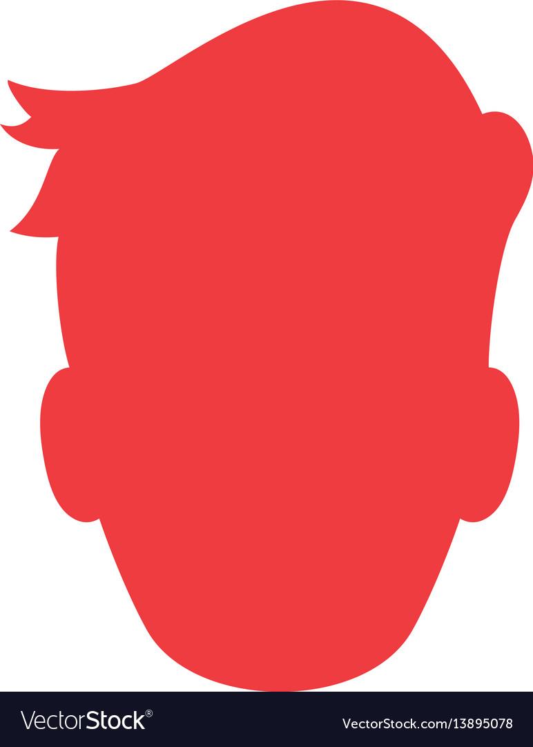 Man profile silhouette