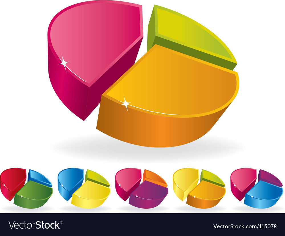 Pie graphs vector image