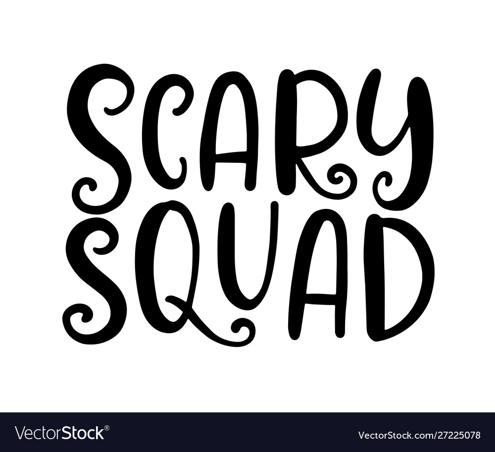 Scary squad halloween party poster